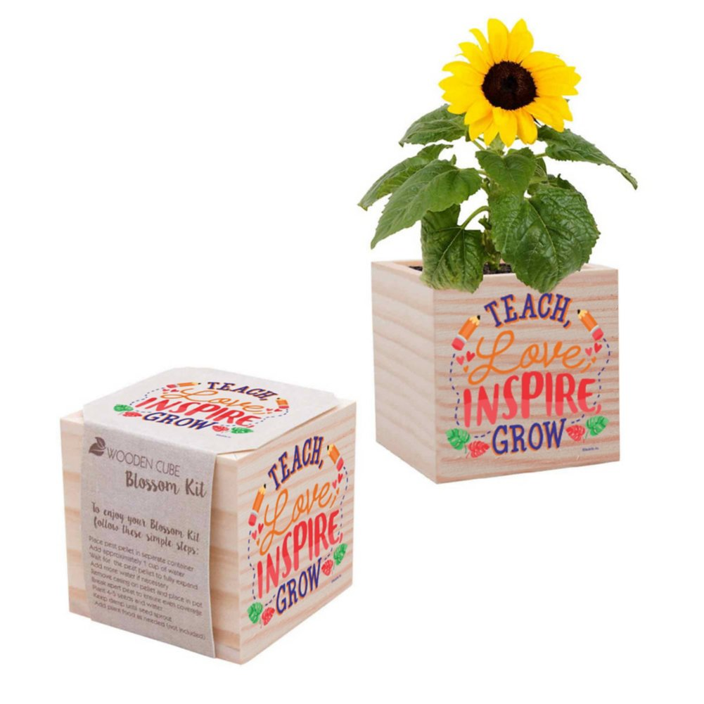 View larger image of Appreciation Plant Cube - Teach Love Inspire Grow