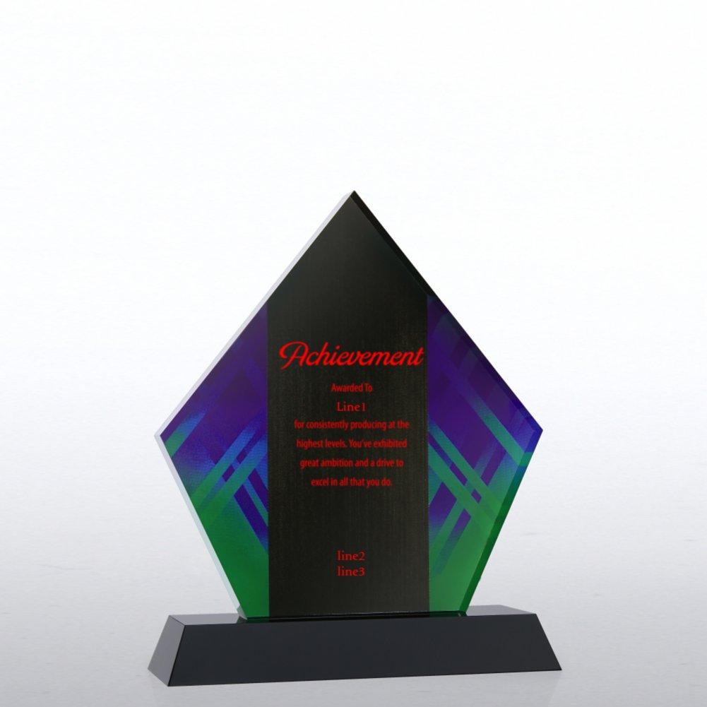 Abstract Acrylic Trophy - Diamond