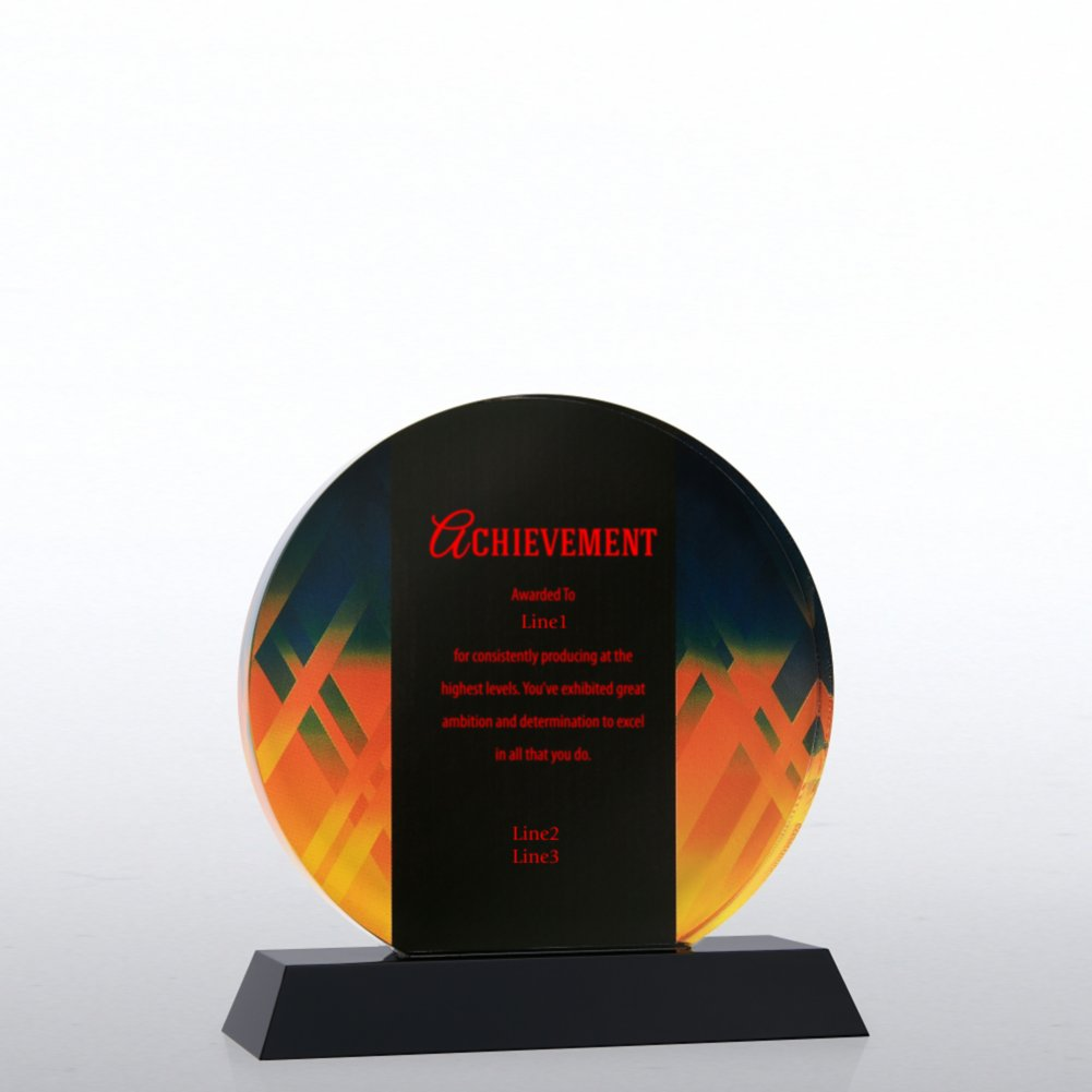 Abstract Acrylic Trophy - Circle