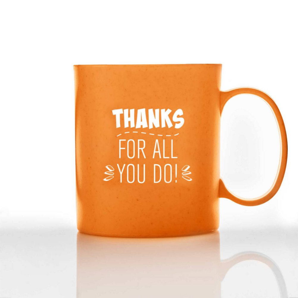 View larger image of Eco-Smart Wheat Mug - Thanks for All You Do