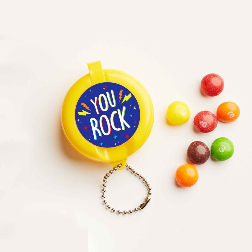 View larger image of Flip-Top Candy Keychain -  You Rock