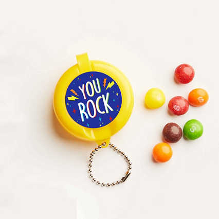 Flip-Top Candy Keychain -  You Rock