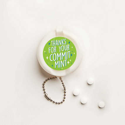 Flip-Top Candy Keychain -  CommitMINT