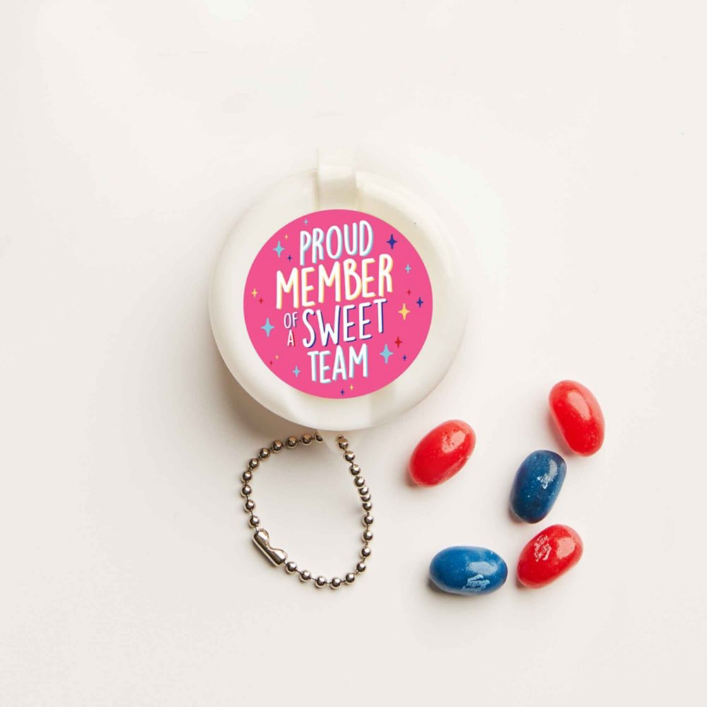 View larger image of Flip-Top Candy Keychain - Sweet Team