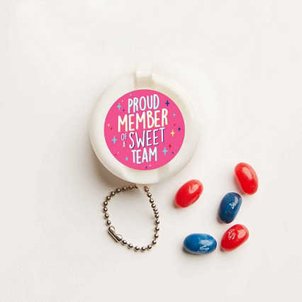 Flip-Top Candy Keychain - Sweet Team