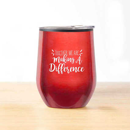 Cheers! Wine Tumbler - Together Making a Difference