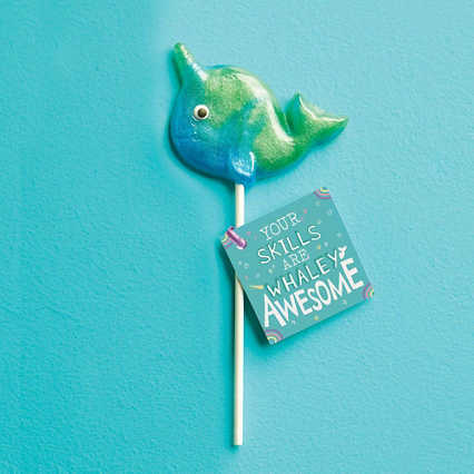 Mythical Narwhal Lollipop - Whaley Awesome