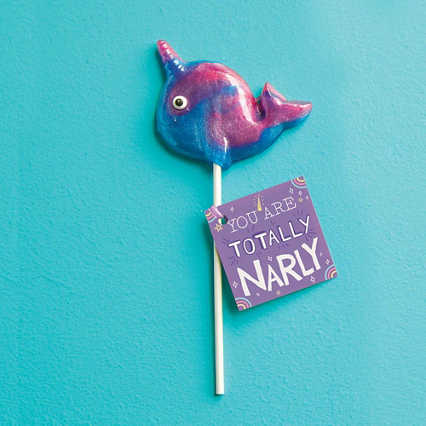 Mythical Narwhal Lollipop - Totally Narly