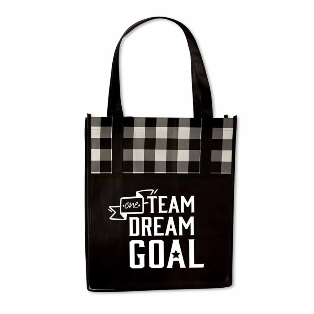 View larger image of Perfectly Plaid Shopper Tote - One Team