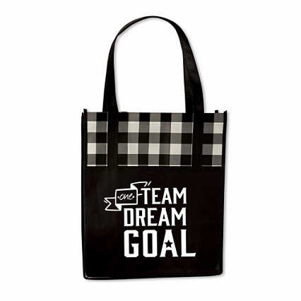 Plaid Value Grocery Tote - One Team