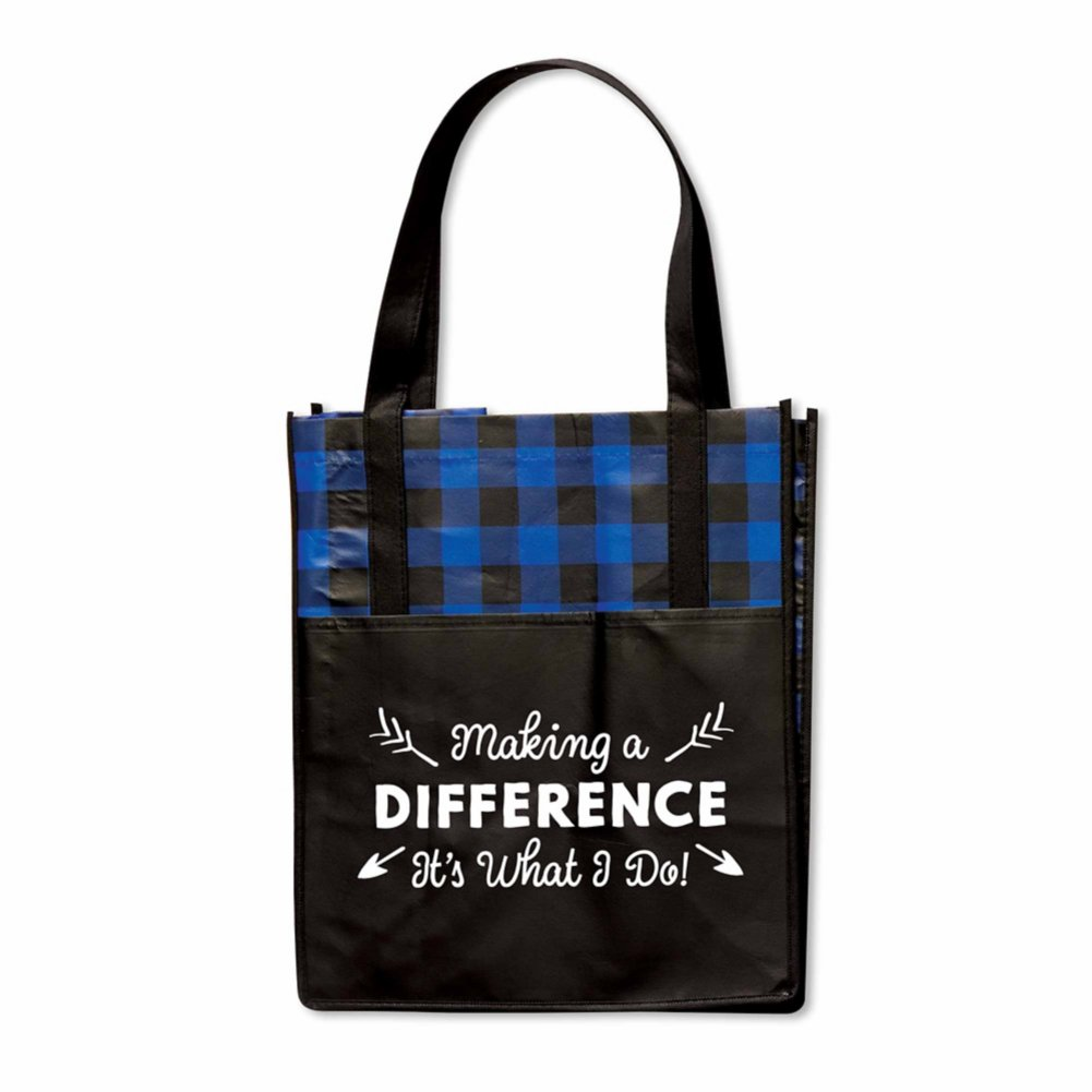 View larger image of Perfectly Plaid Shopper Tote - Making a Difference