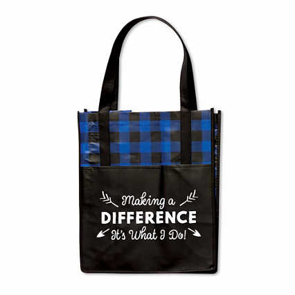 Plaid Value Grocery Tote - Making a Difference