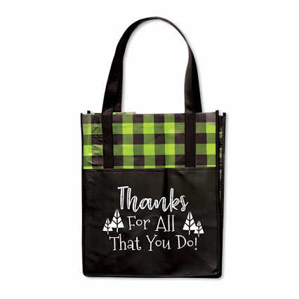 Plaid Value Grocery Tote - Thanks For All You Do