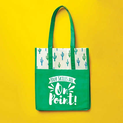 Novelty Value Grocery Tote - Cactus