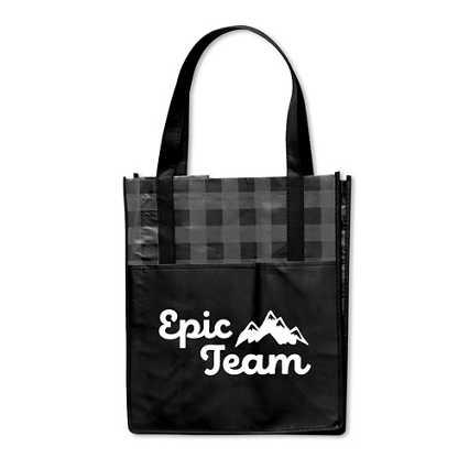 Perfectly Plaid Shopper Tote - Epic Team