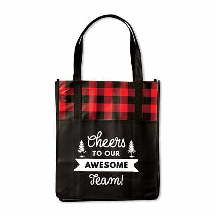 Perfectly Plaid Shopper Tote - Cheers!