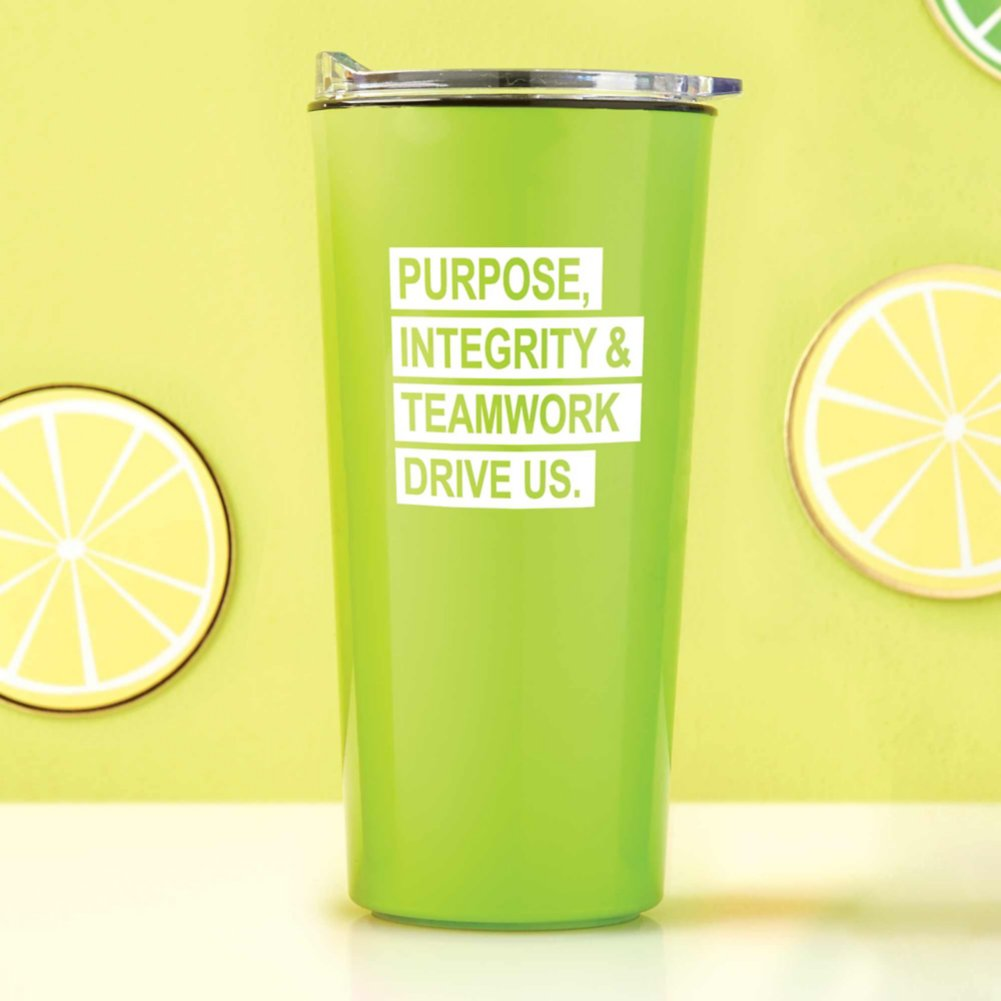 View larger image of Road Trip Travel Mug - Purpose, Integrity & Teamwork