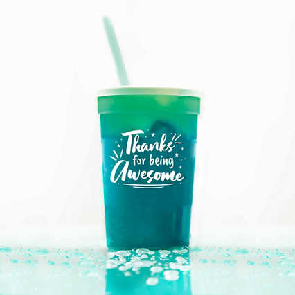 Stadium Color Changing Cup - Thanks for Being Awesome