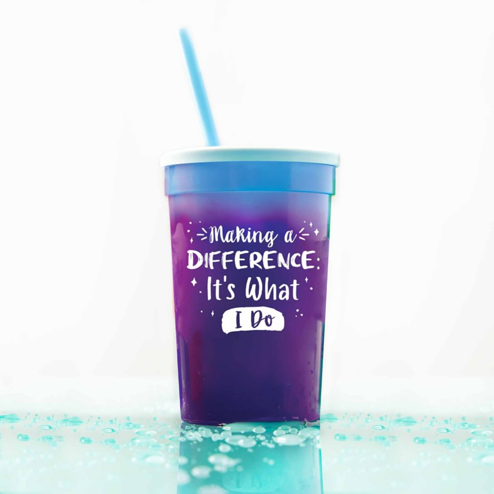View larger image of Stadium Color Changing Cup - Making a Difference