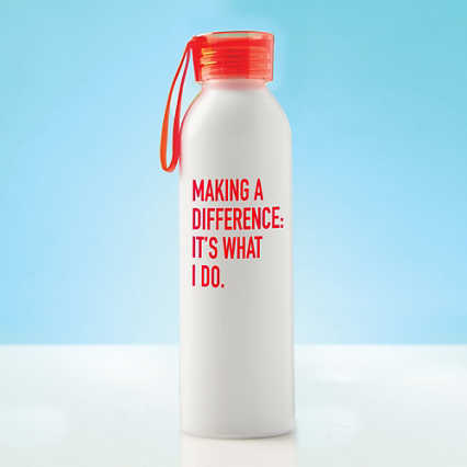 Color Splash Aluminum Water Bottle - Making a Difference