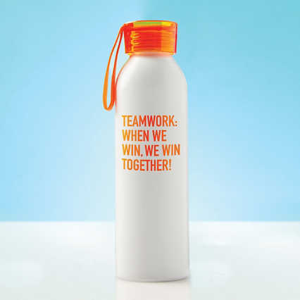 Color Splash Aluminum Water Bottle - Teamwork