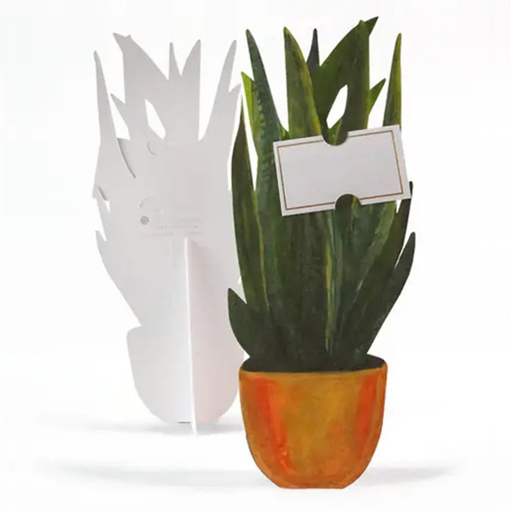 View larger image of Bouquet of Blooms Pop-Up Greeting Card - Snake Plant