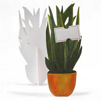 Bouquet of Blooms Pop-Up Greeting Card - Snake Plant