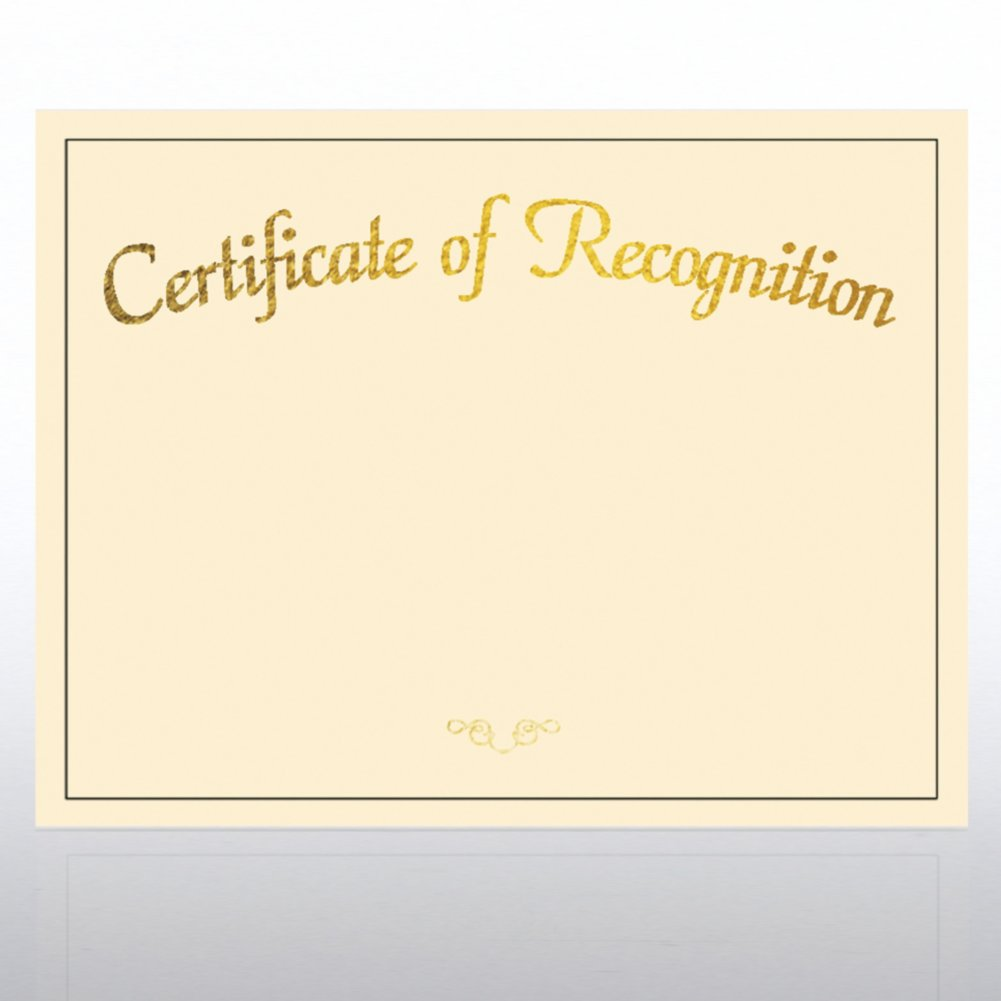 View larger image of Foil Certificate Paper - Certificate of Recognition - Cream