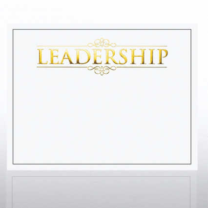 Foil Certificate Paper - Leadership - White