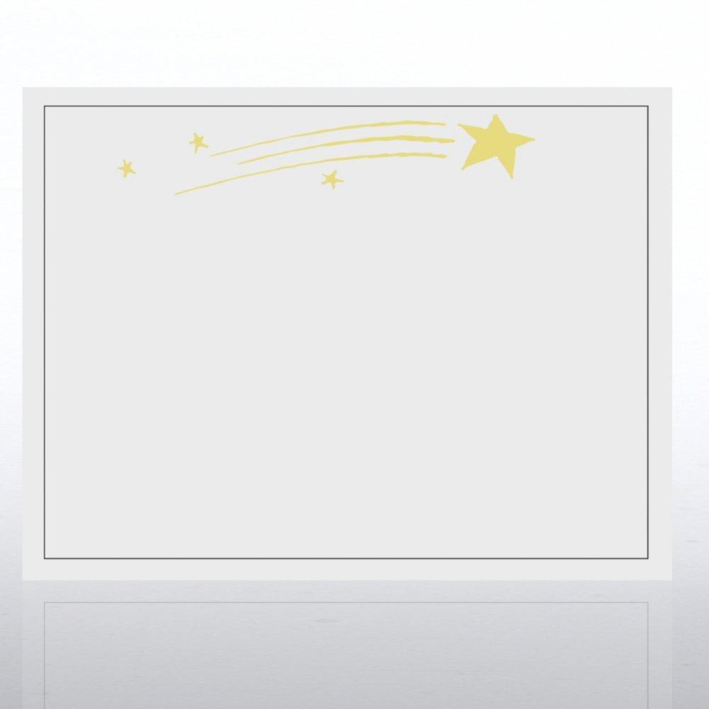 Foil Certificate Paper - Blazing Star - White