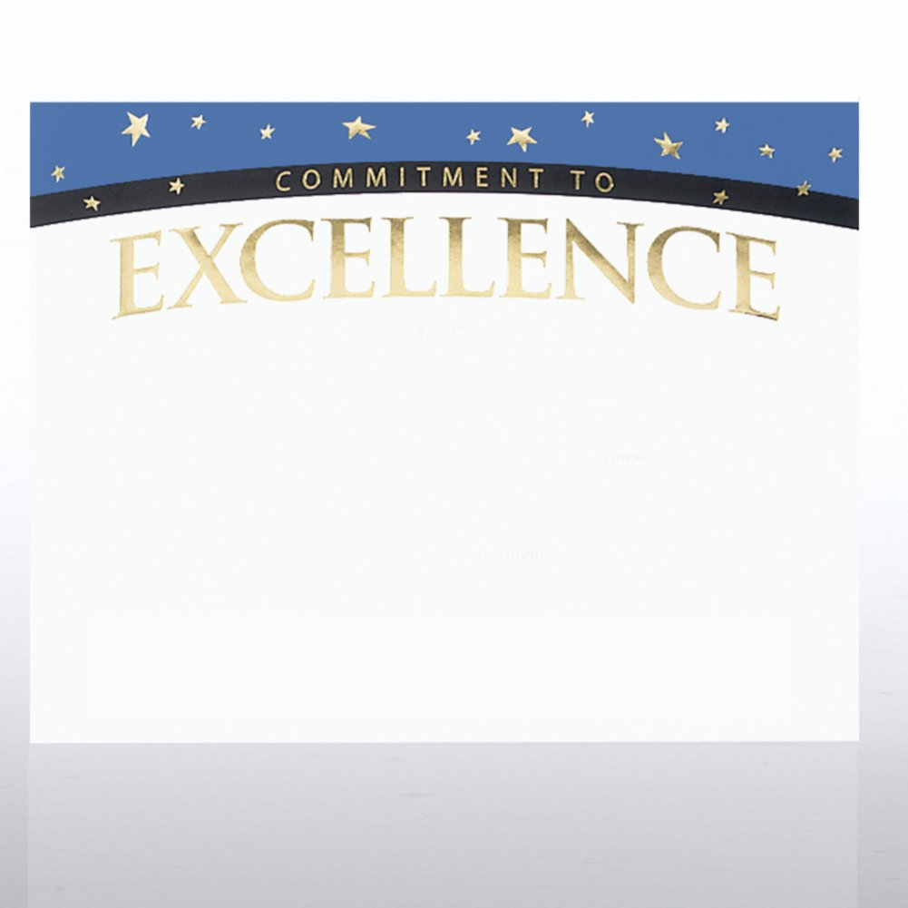 View larger image of Foil Certificate Paper - Commitment to Excellence