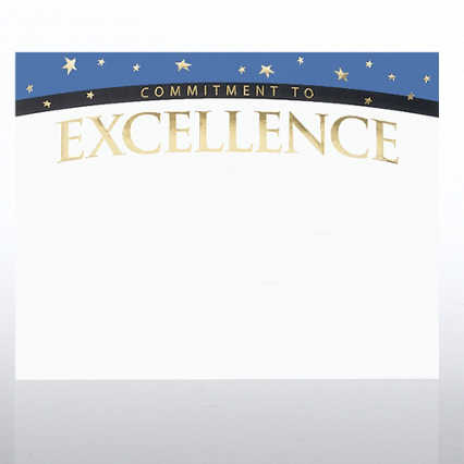 Foil Certificate Paper - Commitment to Excellence