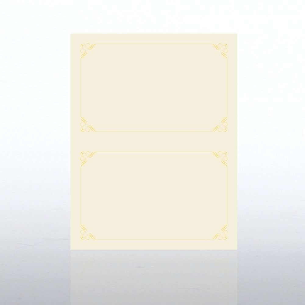 View larger image of Foil Certificate Paper - Half-Size - Ornament - Cream