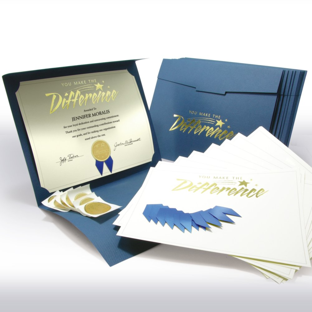 View larger image of Certificate Paper Bundle - You Make the Difference