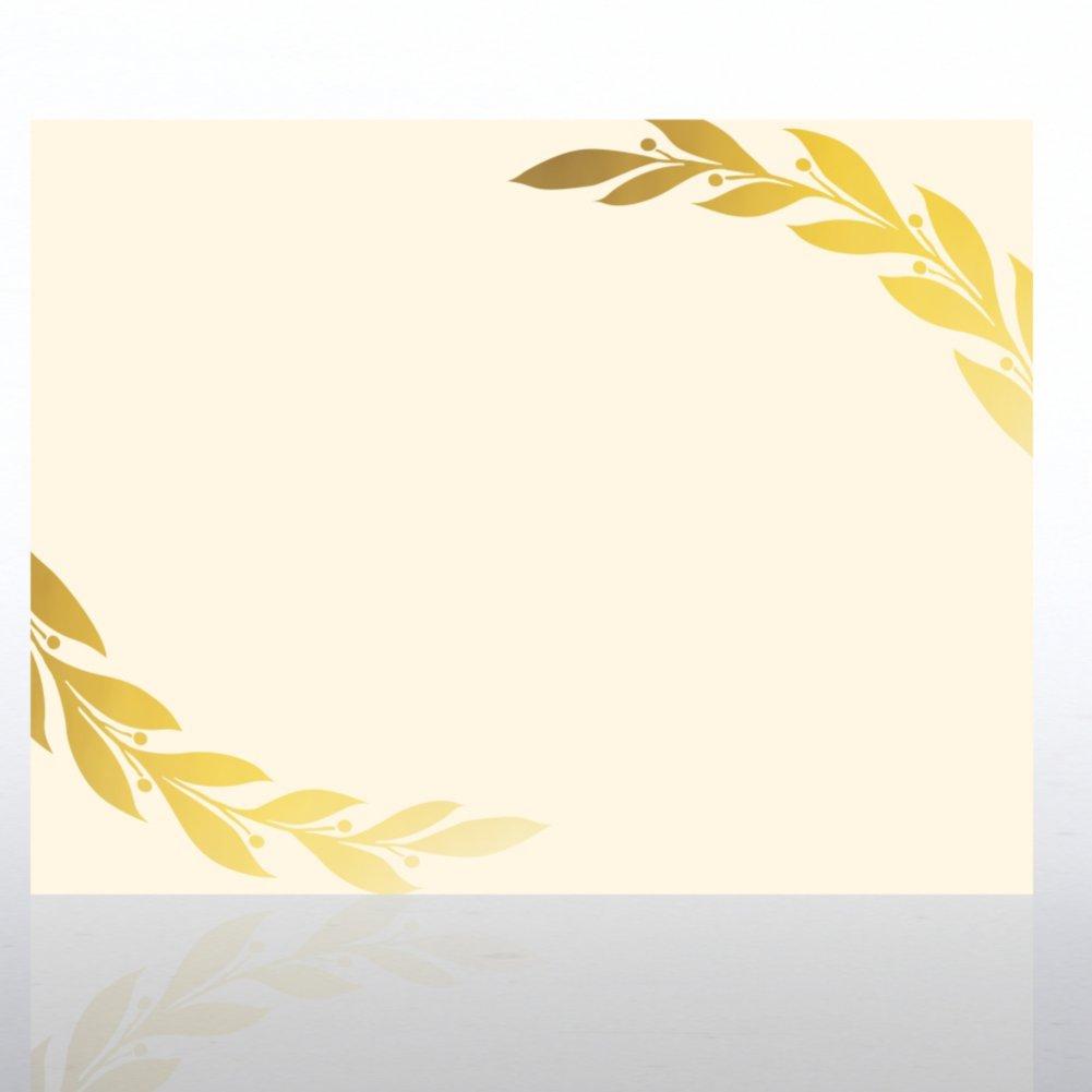 View larger image of Foil Certificate Paper - Grand Laurels - Cream