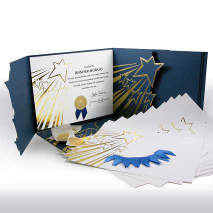 Certificate Paper Bundle - Shooting Stars