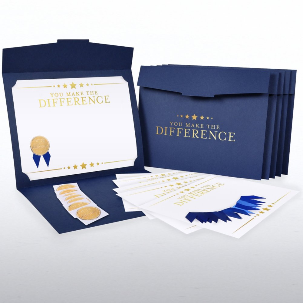 View larger image of Certificate Paper Bundle - Making a Difference Stars