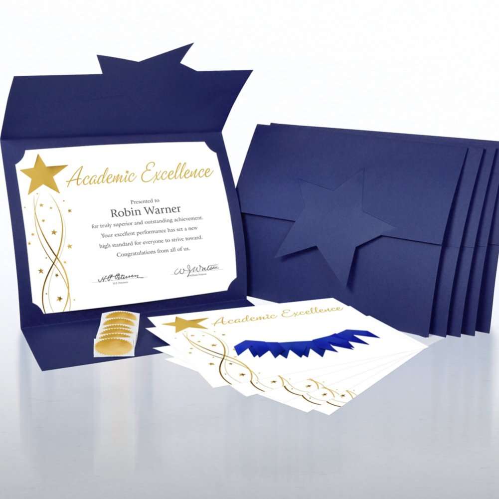 View larger image of Certificate Paper Bundle - Academic Excellence Magic Star