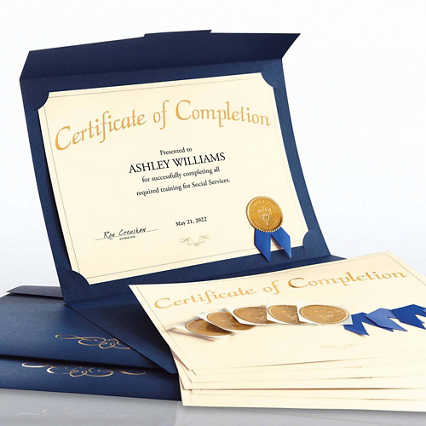 Certificate Paper Bundle - Completion