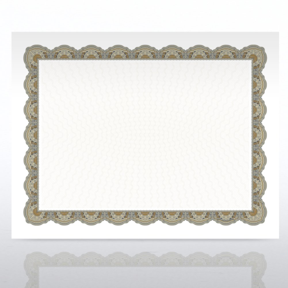 View larger image of Certificate Paper - Regency - Green/Gold