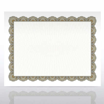 Certificate Paper - Regency - Green/Gold
