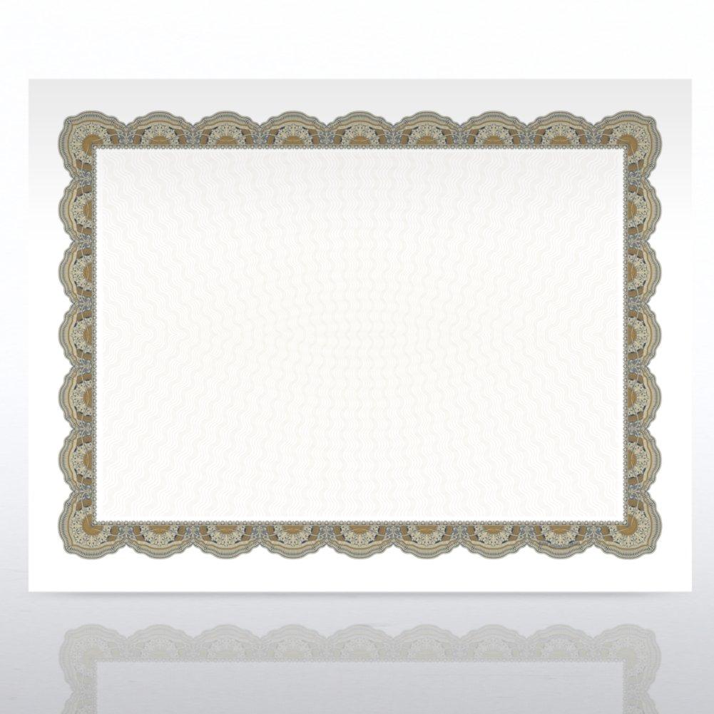 Certificate Paper - Regency - Green/Gold