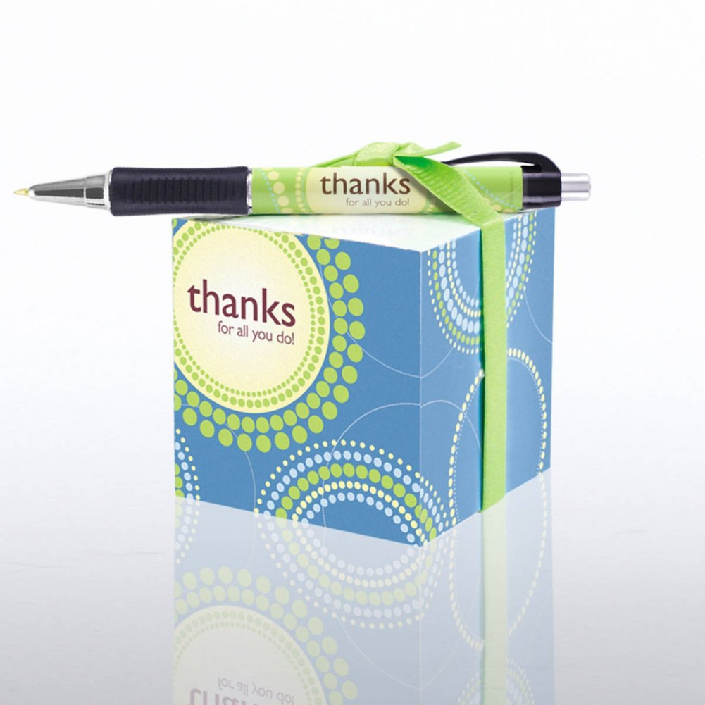View larger image of Note Cube & Pen Gift Set - Thanks for All You Do!