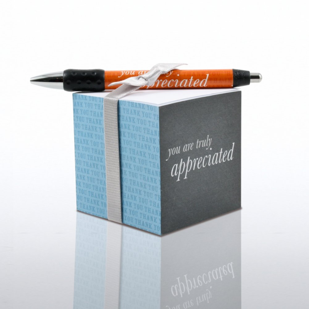 View larger image of Note Cube & Pen Gift Set - You are Truly Appreciated