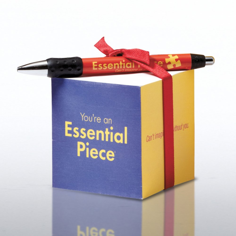 View larger image of Note Cube & Pen Gift Set - Essential Piece