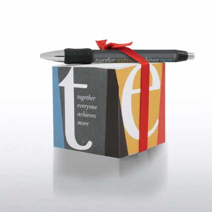 Note Cube & Pen Gift Set - TEAM