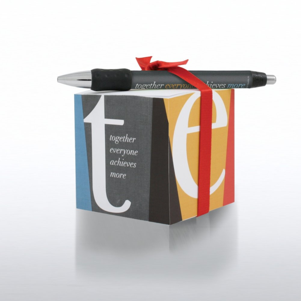 View larger image of Note Cube & Pen Gift Set - TEAM