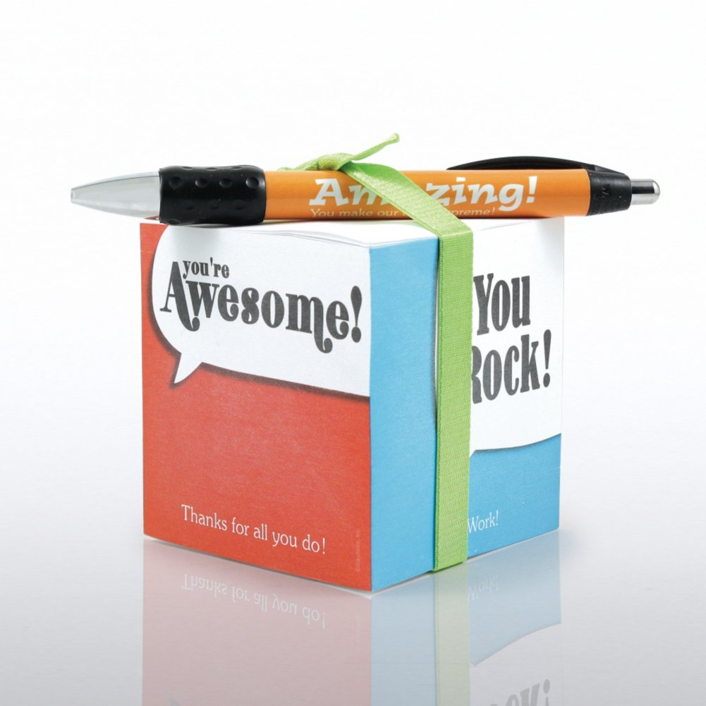 View larger image of Note Cube & Pen Gift Set - Positive Praise