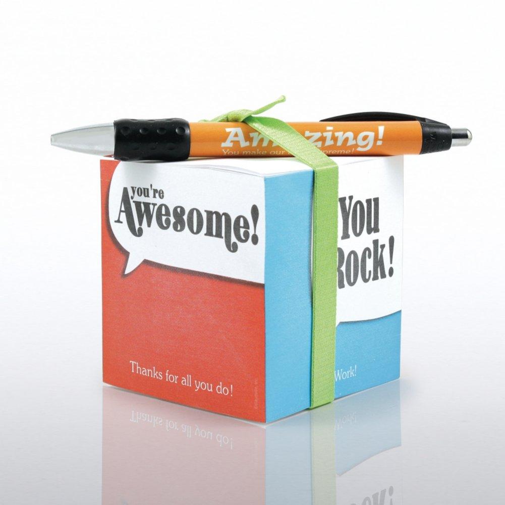 Note Cube & Pen Gift Set - Positive Praise