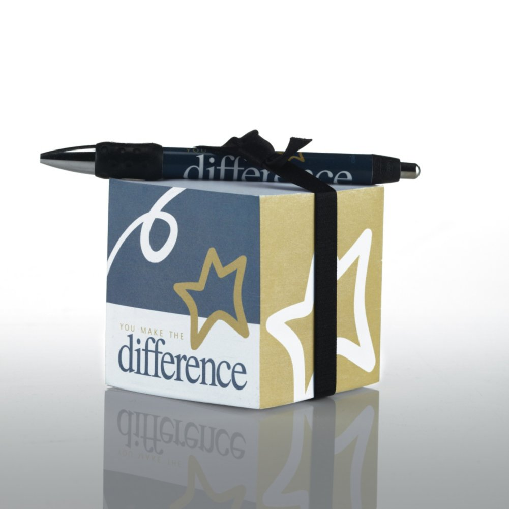 View larger image of Note Cube & Pen Gift Set - You Make the Difference